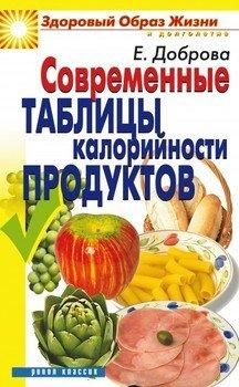 Современные таблицы калорийности продуктов